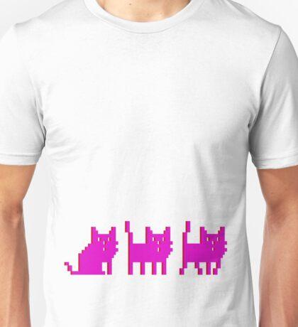 pixel cat pink! Unisex T-Shirt