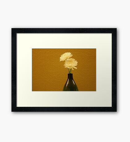 Floral Setting Framed Print