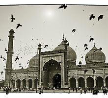 Mosque. Old Delhi, India #4 by Mauricio Abreu