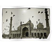 Mosque. Old Delhi, India #4 Poster