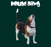 Hound Dawg Howling Beagle Funny T Shirt by SmilinEyes