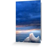 abstract sky Greeting Card