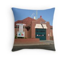 Young Fire Station Throw Pillow