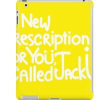 A New Prescription For Yoü, Called Jack Ü iPad Case/Skin