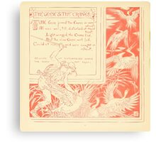 The Baby's Own Aesop by Walter Crane 1908-44 The Geese and the Cranes Canvas Print