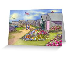 North Hampton NH Fishhouses Path  Greeting Card