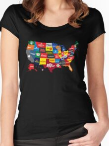 The Corporate States of America Women's Fitted Scoop T-Shirt