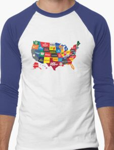 The Corporate States of America Men's Baseball ¾ T-Shirt
