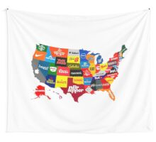 The Corporate States of America Wall Tapestry
