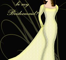 Will you be my Bridesmaid, wedding invitation card by Moonlake