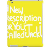 A New Prescription For Yoü, Called Jack Ü Sticker iPad Case/Skin