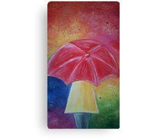 Colourful original umbrella artwork Canvas Print