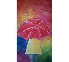 Colourful original umbrella artwork Photographic Print