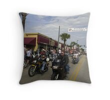 Daytona bike week Throw Pillow