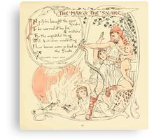 The Baby's Own Aesop by Walter Crane 1908-31 The Man and the Snake Canvas Print