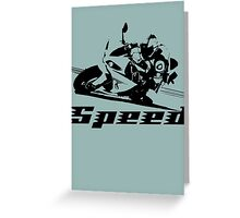 Motorcycle Speed Greeting Card