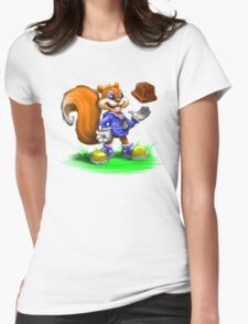 A Squirrel's Comeback Womens Fitted T-Shirt