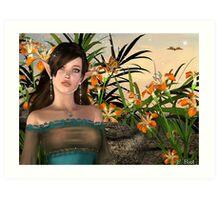 Among The Flowers IV Art Print