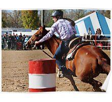 Barrel Racing Horse Poster