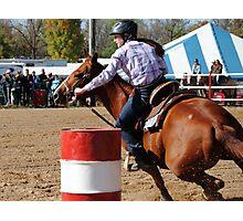 Barrel Racing Horse Photographic Print