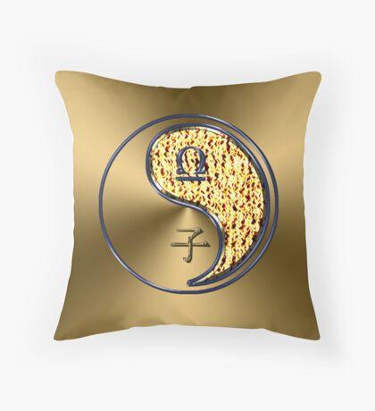 Libra & Rat Yang Fire Throw Pillow