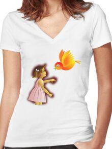 MessengerBird Women's Fitted V-Neck T-Shirt