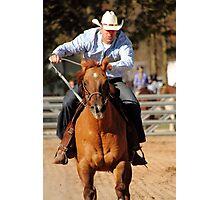 Pole Bending Horse Photographic Print