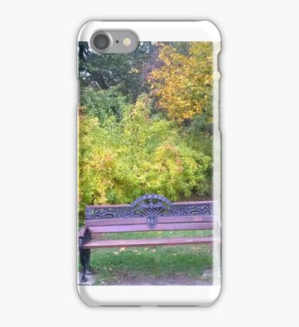 Lonely bench iPhone Case/Skin