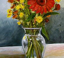 Daisy Vase by Reba Hierholzer