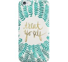 Treat Yo Self – Turquoise iPhone Case/Skin
