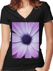 Trip-O-Vision Online Gallery Design 32: Purple Beauty Photography Women's Fitted V-Neck T-Shirt