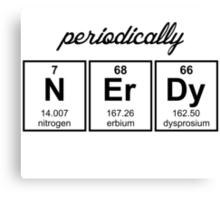Periodically Nerdy Element Symbols Canvas Print