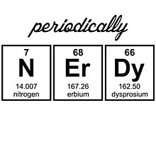 Periodically Nerdy Element Symbols Photographic Print
