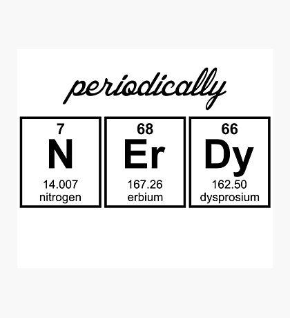 Periodically Nerdy Element Symbols Photographic Print