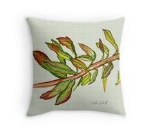 Leafy Stem Throw Pillow