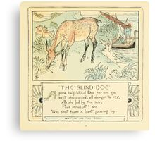 The Baby's Own Aesop by Walter Crane 1908-43 The Blind Doe Canvas Print