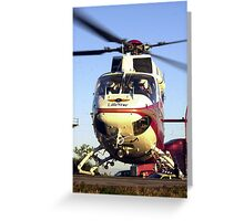 Lifestar helicopter Greeting Card
