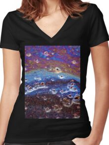 Trip-O-Vision Online Gallery Design 34: Rainbow Slick Photography Women's Fitted V-Neck T-Shirt