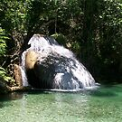 Huatulco Paradise Hidden Waterfall  by Leslie van de Ligt