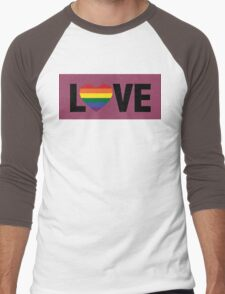 Pride Love Men's Baseball ¾ T-Shirt