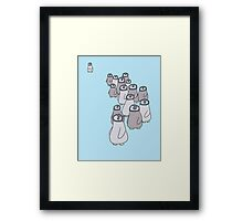 Penguin March  Framed Print