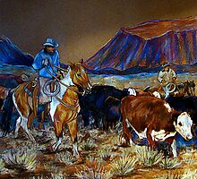 """Evening Roundup"" by Susan Bergstrom"