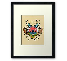 Monster Shaman Framed Print