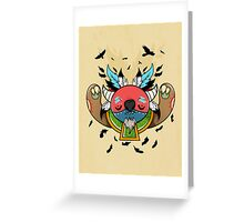 Monster Shaman Greeting Card