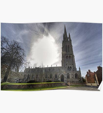 St James church Louth Panoramic Poster