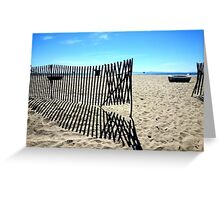 Symmetrical Fence Silhouette at the Beach Greeting Card
