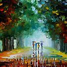 Bright Rain — Buy Now Link - www.etsy.com/listing/126890459 by Leonid  Afremov