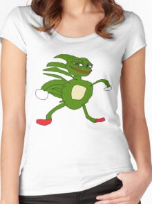 Sanic Pepe Women's Fitted Scoop T-Shirt