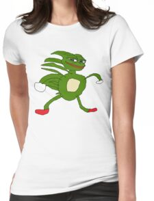 Sanic Pepe Womens Fitted T-Shirt