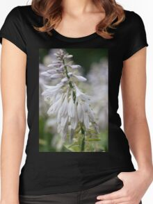 Trip-O-Vision Online Gallery Design 36: White Flower Photography Women's Fitted Scoop T-Shirt